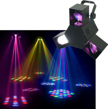 Triple Flex LED Lyseffekt / Auto Musikstyring og DMX