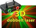 Methone Dobbelt 3D Laser rød/grøn DMX