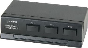 Audio indgangsomskifter 3-vejs