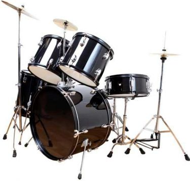 DW Audio Standard Trommesæt, 5 trommer / sort
