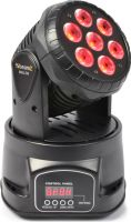 Moving Head Wash LED MHL-74 / 12-kanals DMX, 7x 10W Quad LED