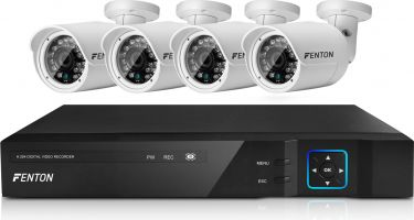 HD CCTV System with 4 High Resolution Cameras
