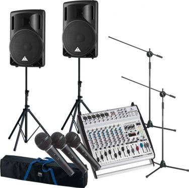 Komplet Sang og Musikanlæg 3 mik. / 1200 watt