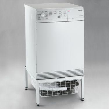 Vaskemaskine stativ 60x60cm hvid m/kurv