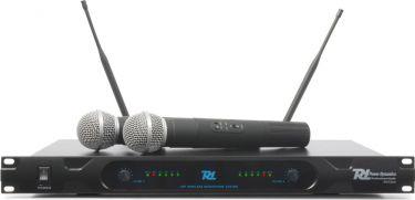 Professionelt 2-kanals UHF trådløst mikrofonsæt PD722H / 2 håndholdte