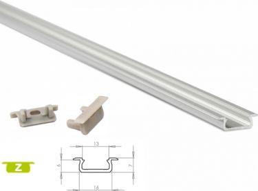 Lumines Lightning - Alu. LED profil - Type Z, Anodiseret alu. (2,02m)