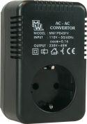 Konverter 110V til 230V - 45Watt (perfekt til rejsen til fx USA)