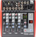 Power Dynamics PDM-L405 4-kanals musik mixer / Phantom power / Echo / MP3
