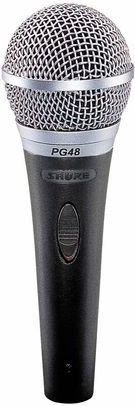 Shure PG48-XLR vokal mikrofon inkl. kabel 5m. XLR-XLR