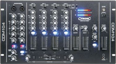 Citronic CDM10:4 Club 4-kanals USB mixer