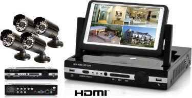 """Komplet overvågningssæt / 4 kameraer / 7"""" TFT Skærm / Alt medfølger, nem installation """"RESTPARTI"""""""