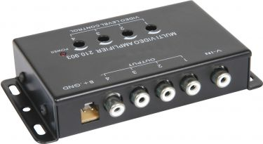 4 Channel video signal amplifier/splitter.