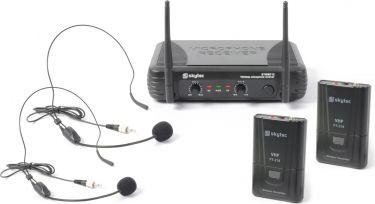 Dobbelt trådløst Mikrofonsæt STWM712H med 2 Headset mikrofoner / rækkevidde 50m