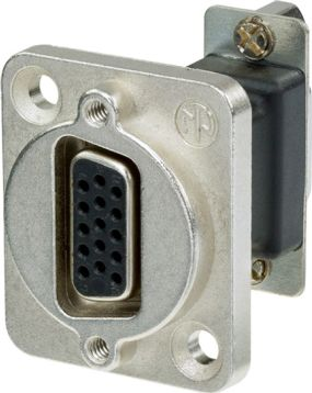 D-Sub-15 Chassis connector /gennemføring