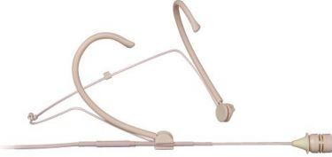 Mipro headset-mikrofon nyre 10mm, m/3 str.bøjler, beige