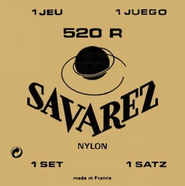 Savarez 520R Rød Klassisk guitarstrengesæt, High ten.