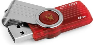Kingston 8GB USB DataTraveler 101G2 Rød