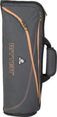 RitterBag Trompet, Farve: Grå & Læderbrun