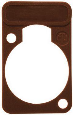 Chassis plade til label, brun