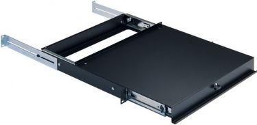 K&M Rack udtrækshylde m/lås. 360mm dyb, 1U, sort