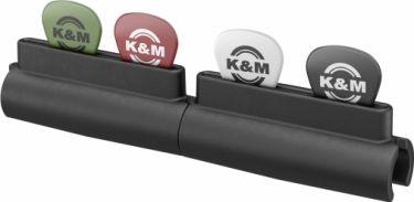 K&M plekter holder til stativrør, sort