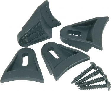 Set of 4 Plastic speaker clamps, with wood screws