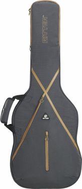 RitterBag 335 Guitar, Farve: Grå & Læderbrun