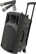 "Mobilt lydanlæg QR15PA / 15"" bas MP3/USB/SD-input, inkl. 2 trådløse mikrofoner"