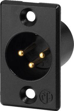 NEUTRIK XLR panel plug, 3poles NC-3MPB