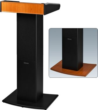 Professional lectern with integrated wireless amplifier system SPEECH-100