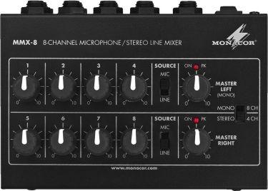 Miniature universal audio mixer MMX-8