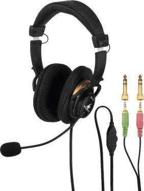 Stereo headphones with electret boom microphone BH-003