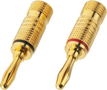 Pair of banana plugs for speakers, 4 mm BP-100G