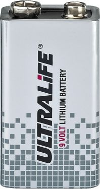 9 V lithium battery, high-energy ULTRALIFE
