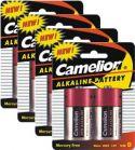 Camelion - Alkaline D/LR20 1,5V / 16500mAt - 8 stk. (4 pakker med 2 stk.)