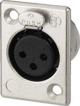 NEUTRIK XLR panel jack, 3 poles NC-3FP1