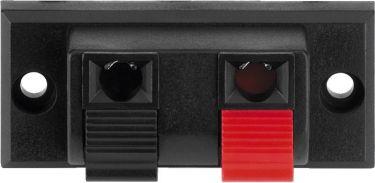 Spring-loaded speaker terminal, 2 poles PT-916