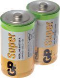 """GP Super Alkaline """"godt kvalitets batteri"""" 1.5V / D batteri, pakke med 20 stk."""