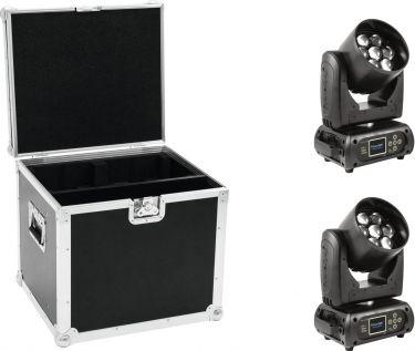 Eurolite Set 2x EYE-7 RGBW Zoom + Case