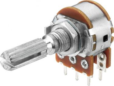 Potentiometers, stereo VRB-101S100