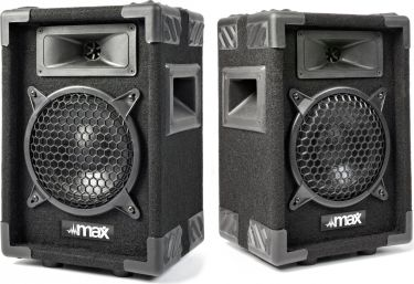 """Højttalersæt i populært disco-look 2-vejs med 6"""" bas / 300W (pris er for 2 højttalere)"""