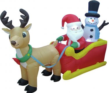 Europalms Inflatable figure Santa´s sleigh 200cm
