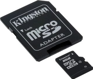 Kingston 8GB micro SD-kort inkl. adapter (Class 4)