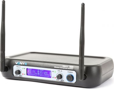 WM512C 2-Channel VHF Wireless Microphone System Combi with Handheld, Bodypack and Display