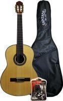 Santana B8 klassisk 4/4 guitar, taske & tuner, HG Natur