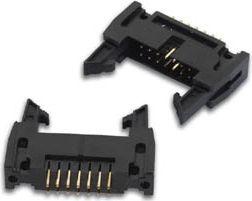 PCB header konnektor, straight, med latc