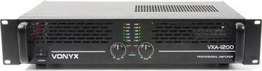 "Professionel PA effekt-forstærker SKY-1200 II ""kraftig"" 2x 600W"
