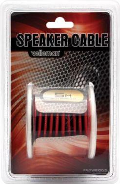 LOUDSPEAKER WIRE - RED/BLACK- 2 x 1.00mm² - 5m K/LOW2100/5