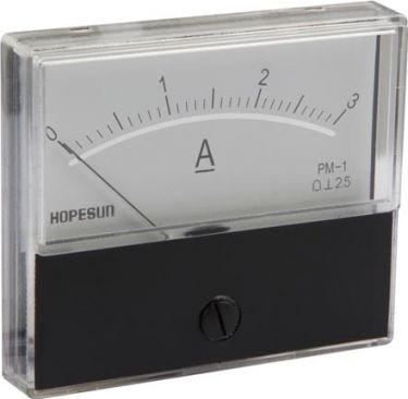 ANALOGUE CURRENT PANEL METER 3A DC / 70 x 60mm AIM703000
