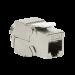 RJ45 keystone fatning 180° - CAT6a skærmet (Toolless) - slim NK4003